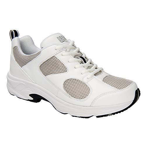 White Grey Mesh Leather - Drew Men Lightning II 40805 White/Grey Leather/Mesh Leather/Mesh 16 Medium (D) US