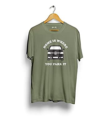 Home is where you park it reisemobil t-shirt - VW T5 van leben -