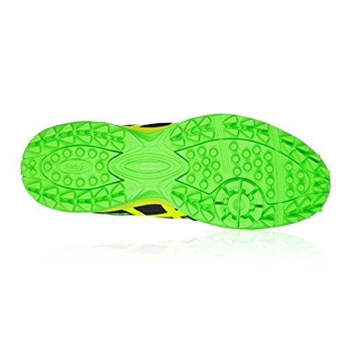 Asics gel-Lethal MP 7Hockey zapatos del hombre Black/Green Gecko/Safety Yellow