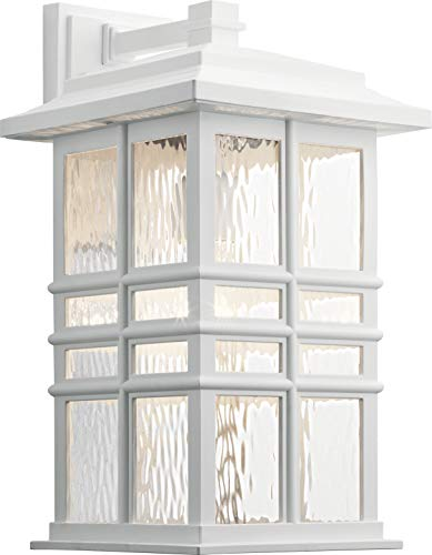 Kichler 49831WH Beacon Square Outdoor Wall Sconce, 1-Light 150 Watts, White