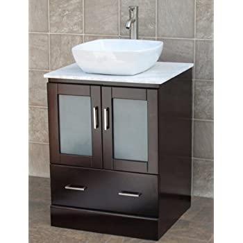 bathroom vanity cabinets for vessel sinks this item solid wood cabinet white tech stone top sink vanities home depot with lowes