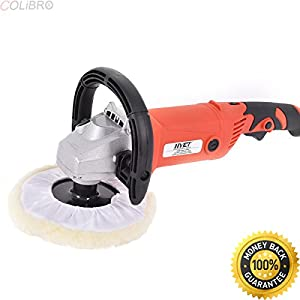 "COLIBROX--7"" Car Polisher 6 Variable Speed Buffer Waxer Sander Detail Boat w/Accessories. professional car polishers and buffers. best cordless buffer polisher. best car polisher machine."