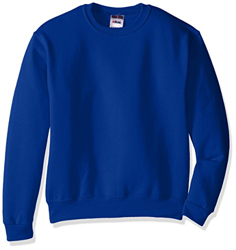 (Jerzees Youth Fleece Crew Sweatshirt, Royal, Large)