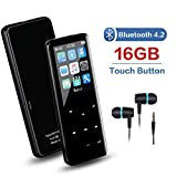 MP3 Player, 16GB MP3 Player with Bluetooth 4.2, Touch Button MP3 Music Player