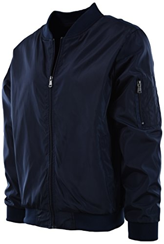 Mens Premium Quality Bomber Flight Jacket (XL, 7330-Dark (Navy Flight Jacket)