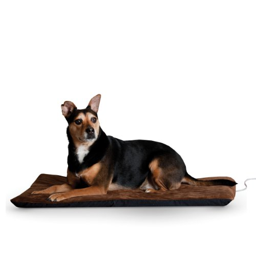 (K&H Pet Products Ortho Thermo-Bed Heated Pet Bed-Large Chocolate 33