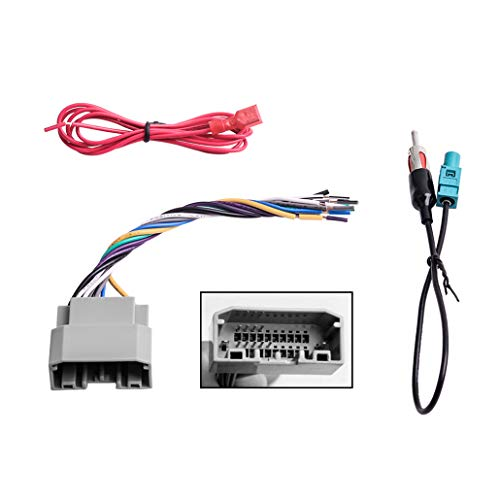 Car Stereo Radio Wiring Harness Antenna Adapter for Some Jeep Dodge Chrysler