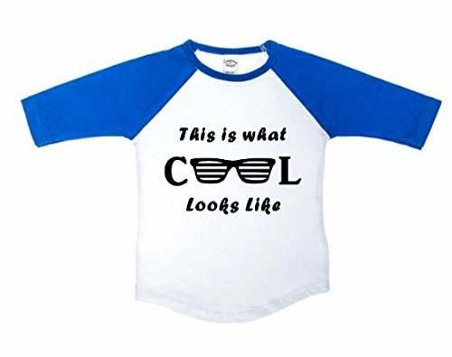 This is what Cool Looks like with Sunglasses Baseball Tee, Funny Toddler Shirt, Unisex boy or girl - What Sunglasses Is