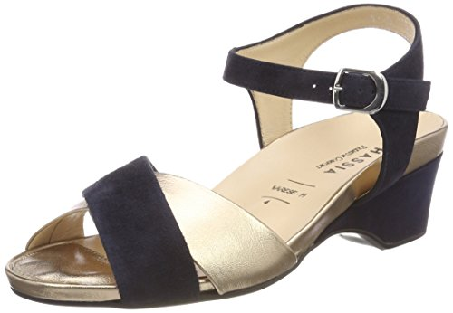 Varese H Smoke 3075 Weite Femme Bride Hassia Sandales Bleu Cheville qCpw6nd7x