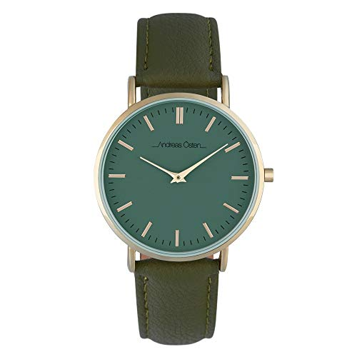Andreas Osten Unisex Quartz Watch 36 mm Green Dial and Green PU Bracelet AOW18025