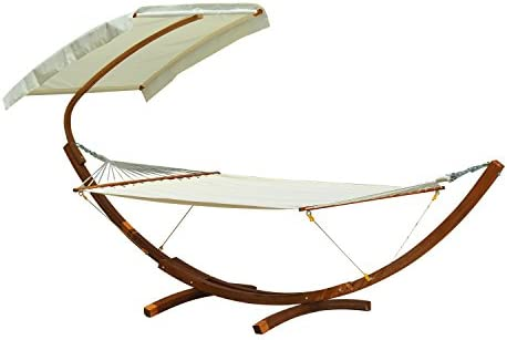 Outsunny Backyard 2-Person Extra Wide Outdoor Arc Hammock