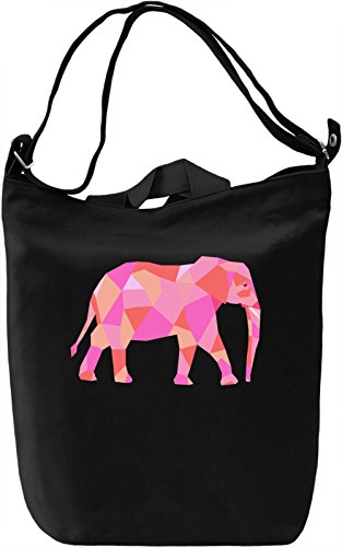 Geometric Elephant Borsa Giornaliera Canvas Canvas Day Bag| 100% Premium Cotton Canvas| DTG Printing|