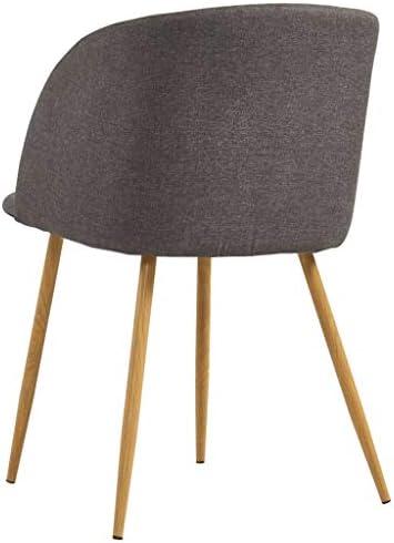 vidaXL 4x Chaises de Salle à Manger Chaises à Dîner Chaises de Repas Chaises de Cuisine Siège de Salon Chaises de Salon Maison Intérieur Taupe Tissu