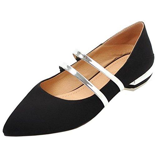 Coolcept Mujer Tacon Bajo Bombas Zapatos Black