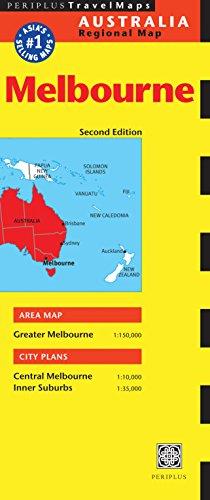 Melbourne Travel Map Second Edition (Australia Regional - Melbourne Map Central