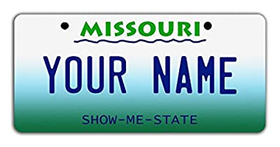 "BleuReign(TM Personalized Custom Name State Bicycle Bike Moped Golf Cart 3""x6"" License Plate Tag from BleuReign"