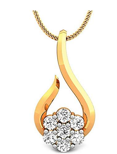 Samaira Gems 14KT Yellow Gold Pendant for Women