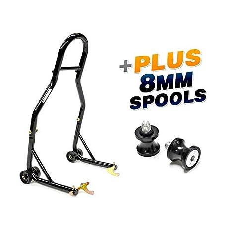 Venom deporte bicicleta motocicleta trasera rueda basculante soporte para elevación de bobina + perfil bajo 8