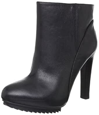 Nine West Women's Cashy Ankle Boot,Black Leather,10.5 M US