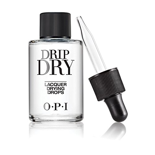 (OPI Nail Lacquer Top Coat, Drip Dry Lacquer Drying Drops, 0.91 Fl Oz)