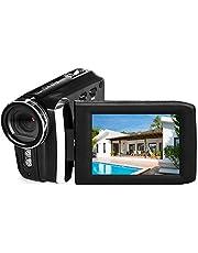 Videocamera Camcorder Oplaadbare digitale camera FHD 1080P 24MP 270 graden LCD Draaibaar scherm Camcorder voor kinderen/tieners/studenten/beginners/oudere mensen
