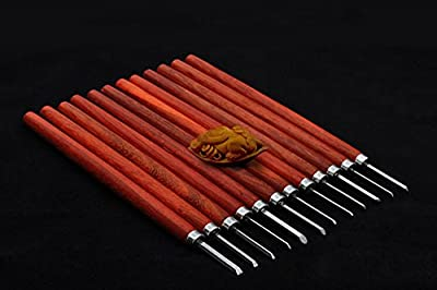 Handcraft Carving Kinfe Wood Carving Hand Tool Set for Olive/Stone/Nut Carving Engraving