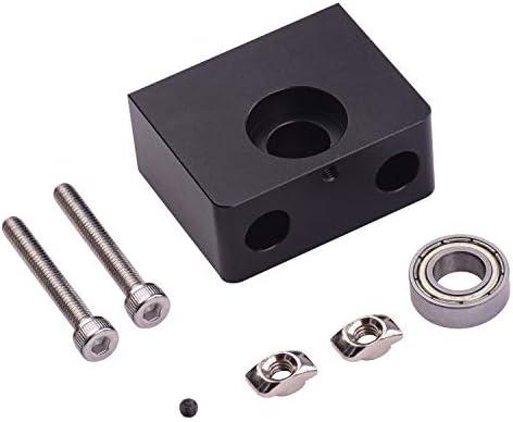 Leslaur - Soporte para rodamientos de metal con tornillo sin fin ...
