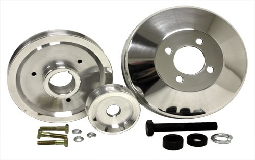 4.6L Compatible/Replacement for FORD MUSTANG COBRA GT 96-98 BILLET SERPENTINE UNDERDRIVE PULLEY SET- POLISHED