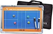 Aluminum Alloy Badminton Tactical Board, Badminton Coach Teaching Board Demonstration Board, Easy to Carry, Re