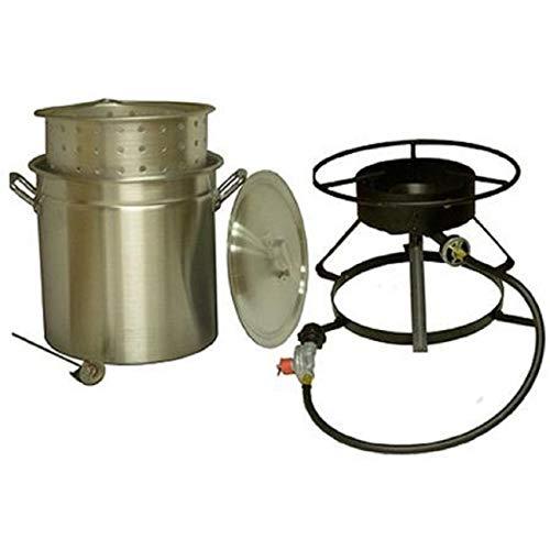 King Kooker #5012-50 Qt. Aluminum Pot and Cooker Pkg by King Kooker