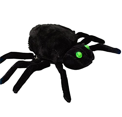 Sound Control Spider Funny Prank Prop Realistic Birthday Halloween Christmas Bar Party Decoration Tricky Toy Gift (Halloween Picters)