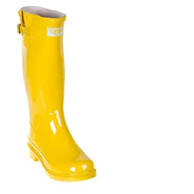 3790397153 Forever Young Women Rubber Rain Boots - Yellow Gold - Size 11 ...