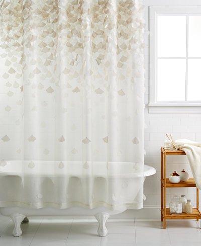 Martha Stewart Collection Falling Petals Shower Curtain 72