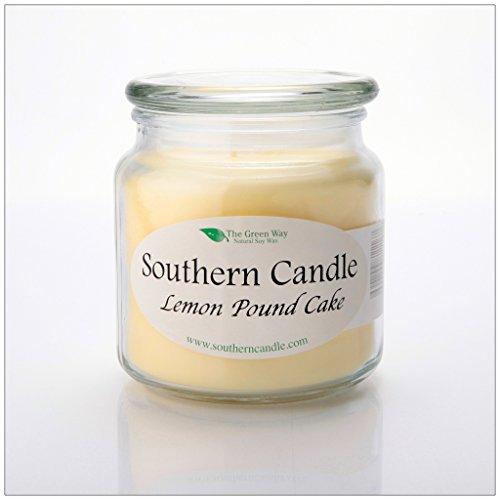 Lemon Pound Cake 16 oz Decorator Jar Natural Soy Wax Candle