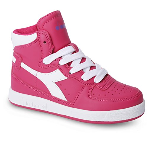 Diadora - Zapatillas de Material Sintético para niño C6232 ROSA/BIANCO