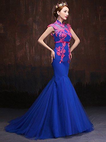 Beauty-Emily -  Vestito  - Top - Collo mao  - Maniche corte  - Donna blu reale 40