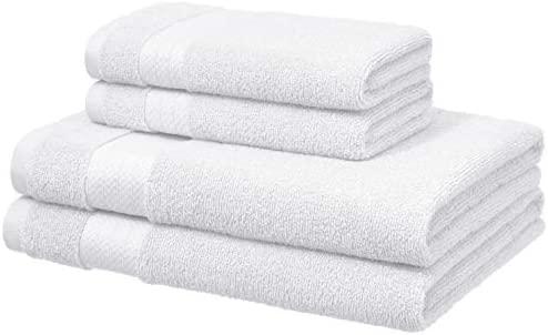 Basics Blanco 2 de ba/ño y 2 de mano Toallas de altas prestaciones