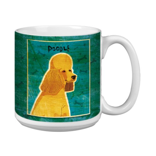 Tree-Free Greetings XM28061 John W. Golden Artful Jumbo Mug, 20-Ounce, Apricot Poodle