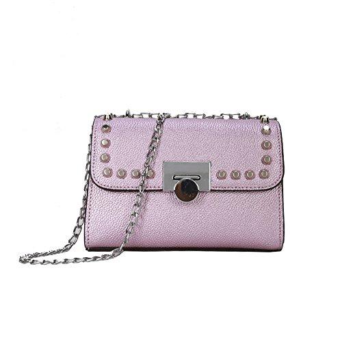 Hardware Nero Fashion Borsa Tracolla Wild Messenger Catena A Purple New qxSvTqHw