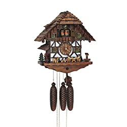 15.5 Chalet 8-Day Movement Cuckoo Clock With Beer Drinkers