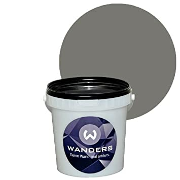 Tafel Wandfarbe wanders24 tafelfarbe matt 15 farbtöne 1 liter beton grau in 1l