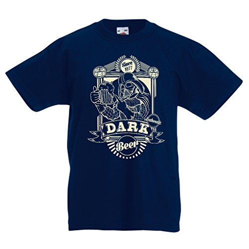 lepni.me Funny t Shirts For Kids Dark Beer (7-8 Years Dark Blue Multi Color)