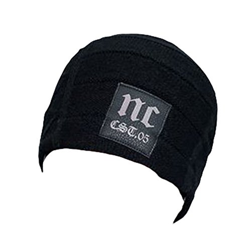 Ukallaite Our Fashion Century - Gorro de Punto de Ganchillo para Hombre, Color Azul Marino, Gris negro