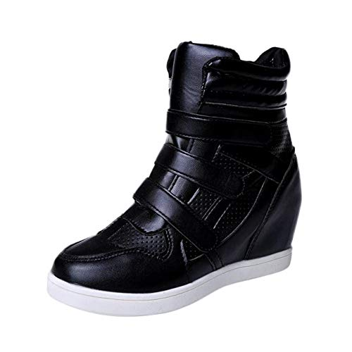 Colmkley Women Lady Casual High-Top Leather Shoes, Sport Non-Slip Bottom Sneaker
