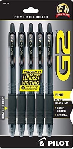 Pilot G2 Retractable Premium Gel Ink Roller Ball Pens, Fine Point,...