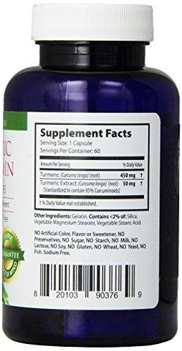 41vxuagFXSL - Turmeric Curcumin Capsules   100% NON-GMO Gluten-FREE   Made in USA  