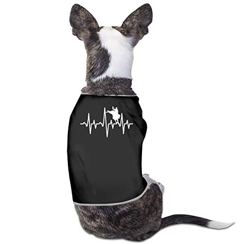 LNUO-2 Pet Shirt Clothes, Bull Rider Heartbeat Dog Cat Shirts Costume ()