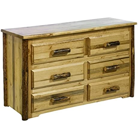 Montana Woodworks Glacier Country Collection 6 Drawer Dresser