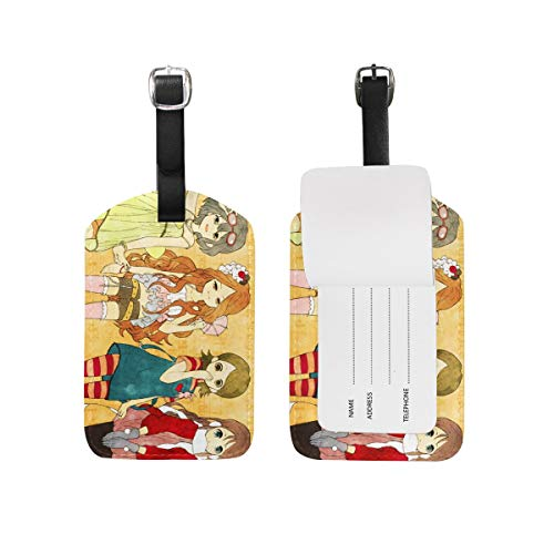 Inazuma Eleven GO Cartoon Luggage Tag Anime DIY Suitcase Tag PU Travel ID Label Cute Travel Bag Labels