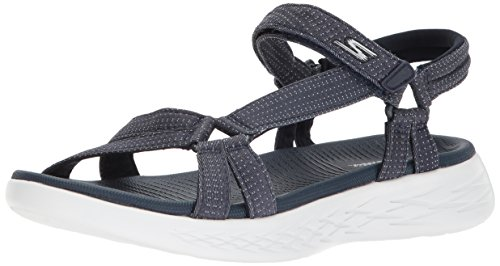 Skechers Performance Women's on-the-Go 600-Brilliancy Sport Sandal, navy, 7 M US
